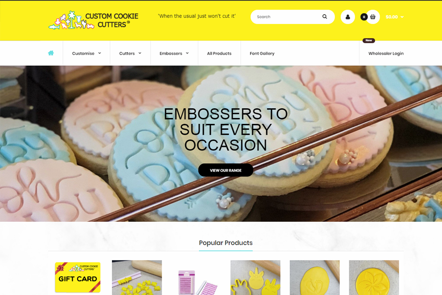 Web Design, SEO, Social Media Agency Melbourne - Client Custom Cookie Cutters