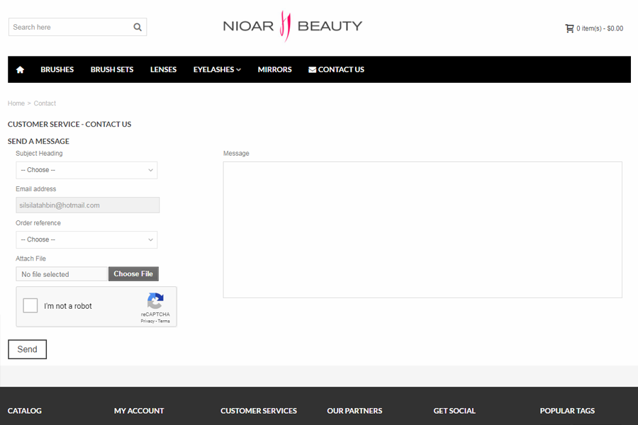 Web Design, SEO, Social Media Agency Melbourne - Client Nioar Beauty