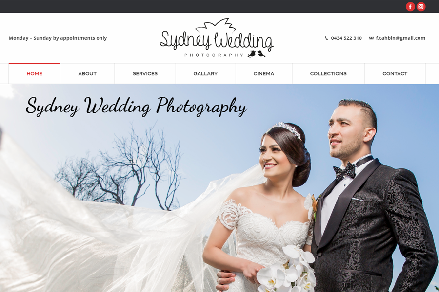 Marketing Agency Melbourne - Client Sydney Wedding Photography